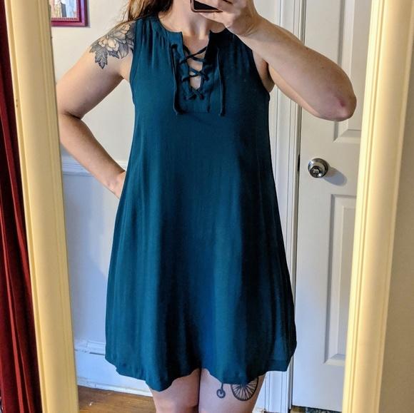 LOFT Dresses & Skirts - LOFT Teal Swing Dress Sz SP